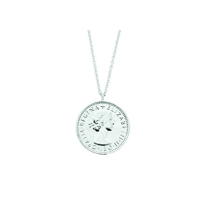 Estella Bartlett Lucky Sixpence Silver Plated Necklace