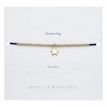Navy Louise Bracelet with Gold Star