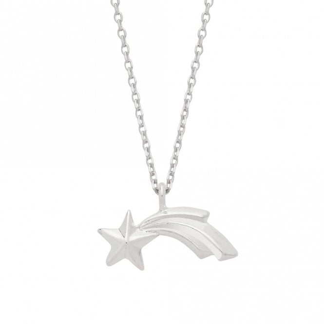 Estella Bartlett Textured Shooting Star Silver Plated Necklace