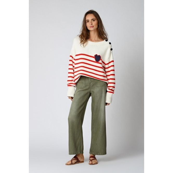 Lucia Pants in Oil Green