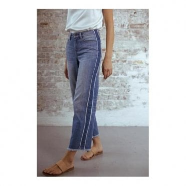 Virginia Boyfriend Jeans in Indigo Side Stripe