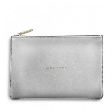 Perfect Pouch - All That Glitters in Metallic Silver