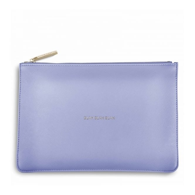 Katie Loxton Perfect Pouch - Blah Blah Blah in Cornflower Blue