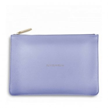 Perfect Pouch - Blah Blah Blah in Cornflower Blue