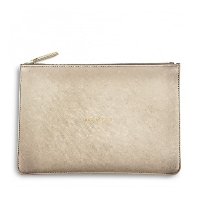 Katie Loxton Perfect Pouch - Good as Gold in Metallic Gold