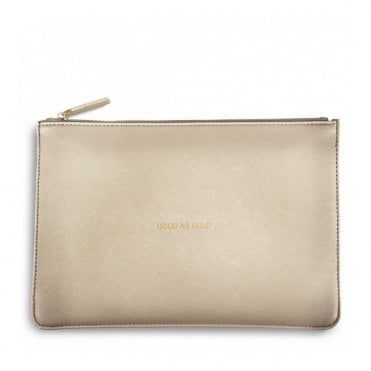Perfect Pouch - Good as Gold in Metallic Gold