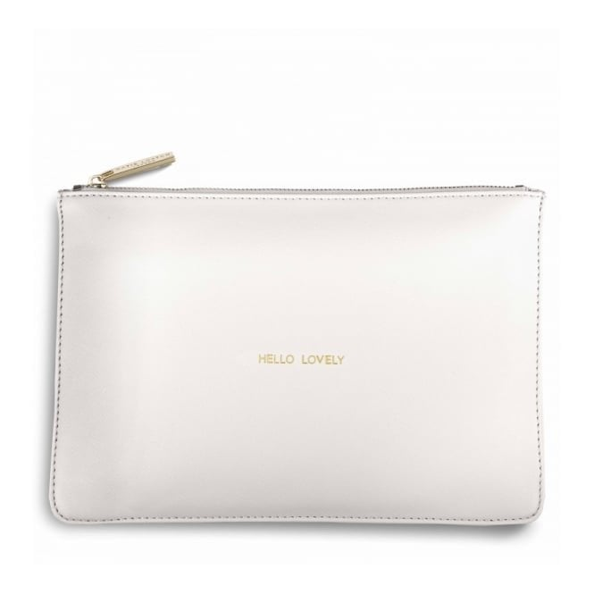 Katie Loxton Perfect Pouch - Hello Lovely in Chalky White