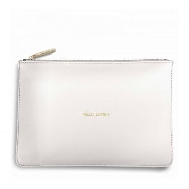 Perfect Pouch - Hello Lovely in Chalky White