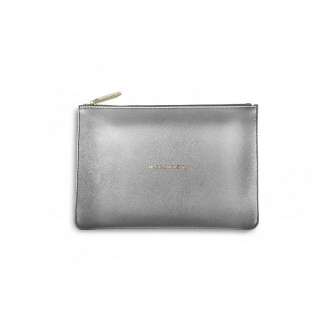 Katie Loxton Perfect Pouch - Magical Moments in Metallic Charcoal