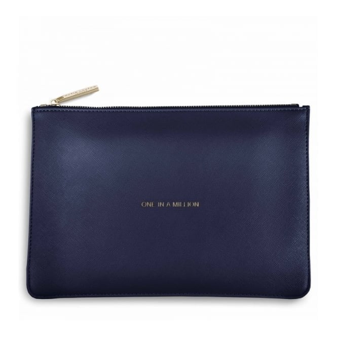 Katie Loxton Perfect Pouch - One in a Million in Navy