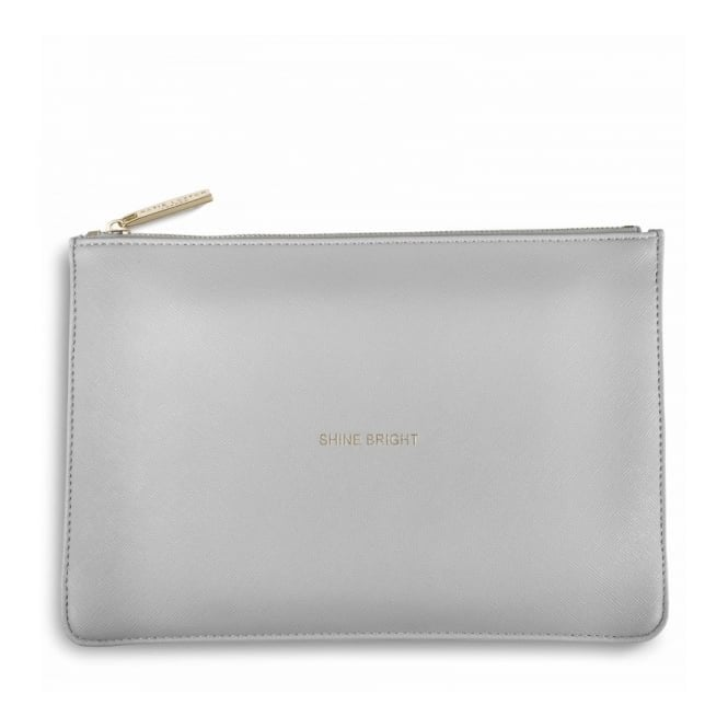 Katie Loxton Perfect Pouch - Shine Bright in Pale Grey