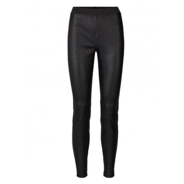 Sally Leather Pants in Black