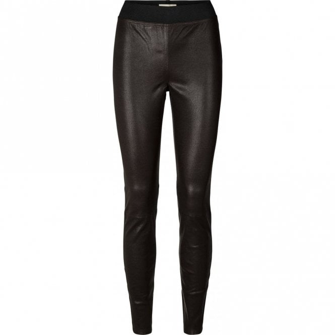 Lollys Laundry Sally Leather Pants in Bordeaux