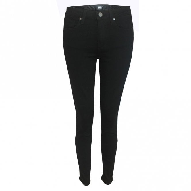 Paige Denim Hoxton High Rise Ultra Skinny Jeans in Black Shadow