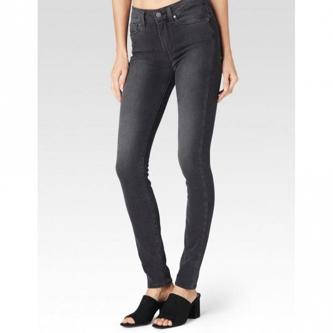 Paige Denim Hoxton High Rise Ultra Skinny Jeans in Smoke Grey