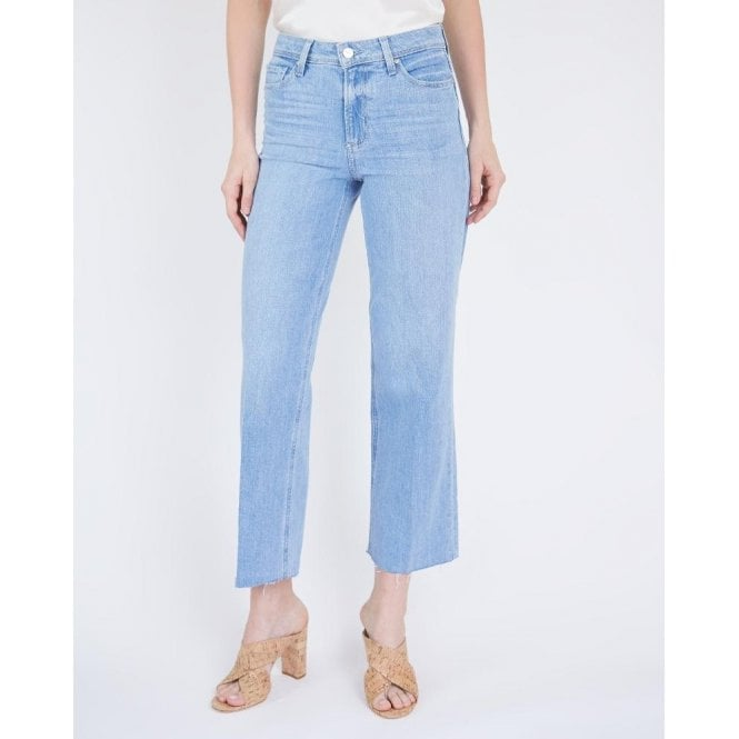 Nellie Culotte Jeans with Raw Hem in Harmonic