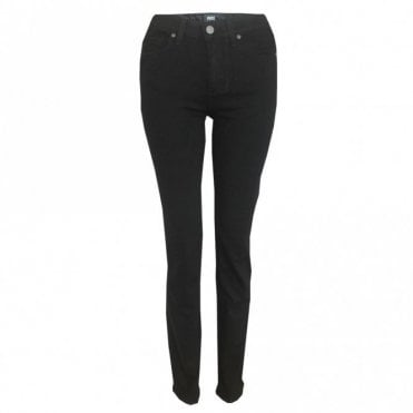 Hoxton Straight Jeans in Black Shadow