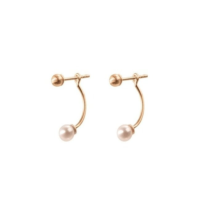 Pernille Corydon Behind Pearl Earrings in Gold