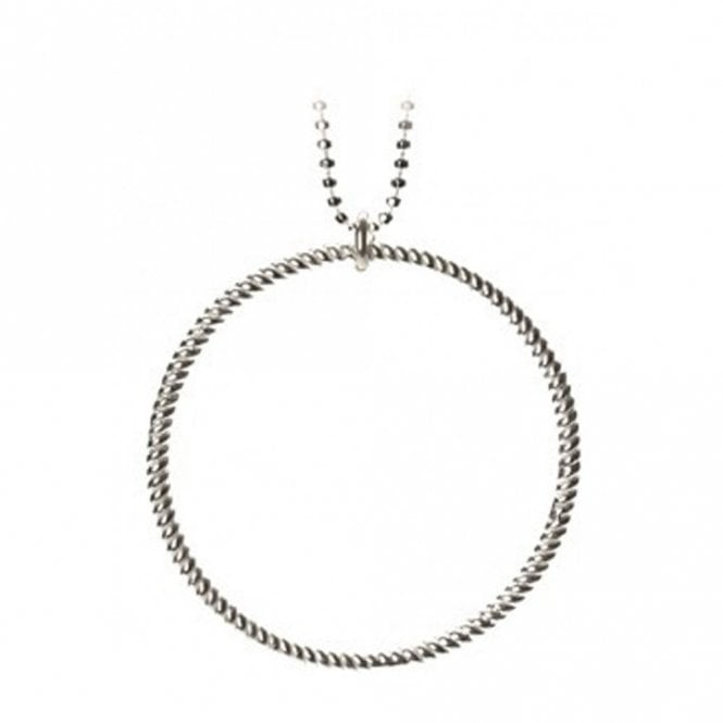 Pernille Corydon Big Twisted Necklace in Silver
