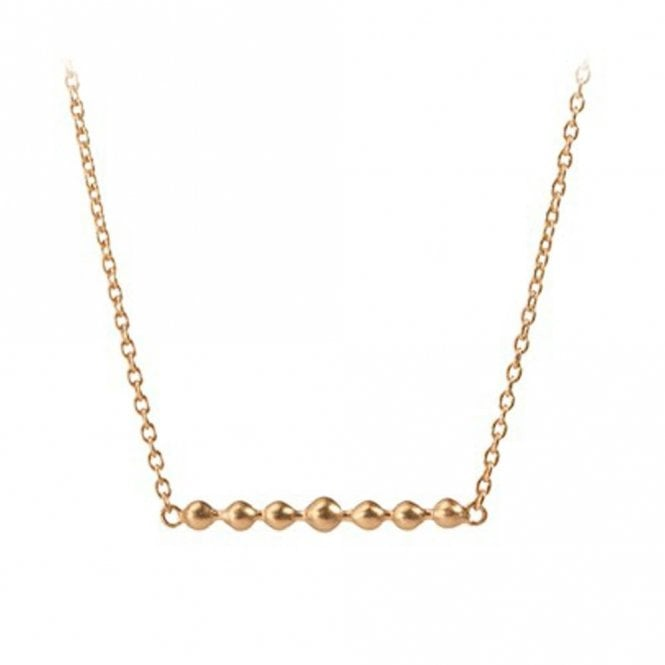 Pernille Corydon Gold Bar Pearl Necklace