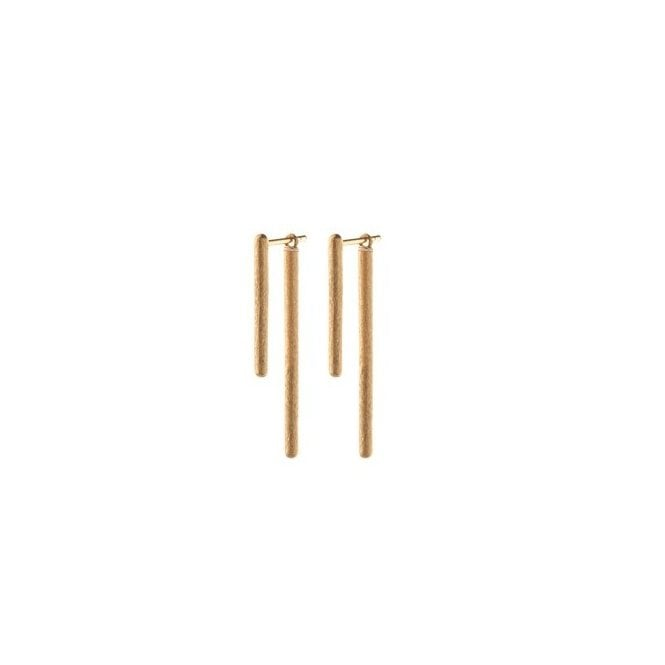 Pernille Corydon Stick Behind Earrings in Gold