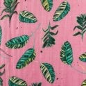 POM Amsterdam Jungle Leaves Scarf in Pink