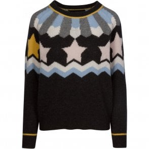 Inga Star Cashmere Jumper in Graphite