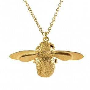 Gold Plated Bumblebee Necklace
