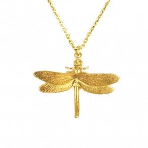 Gold Plated Classic Dragonfly Necklace