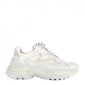 Addict Trainers in Off White Leather and Mesh