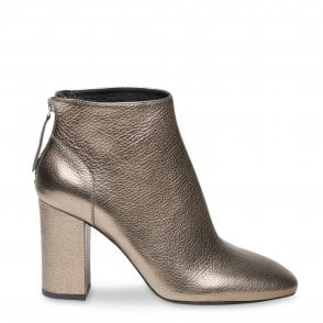 Joy Ankle Boots in Stone Leather
