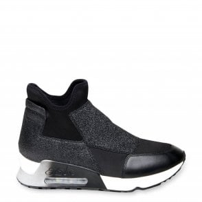 Lazer Glit Trainers in Black Leather and Neoprene