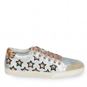 Majestic Star Motif Trainers in Nude and Black