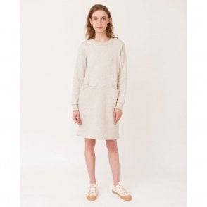 Alexis Organic Cotton Dress in Grey Marl