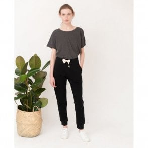 Skylar Organic Cotton Sweatpants in Black
