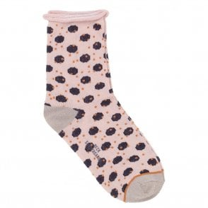Dory Unruly Dot Socks in Black