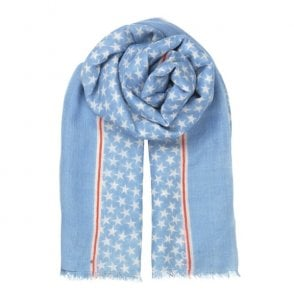 Etoiles Night Scarf in Lichen Blue