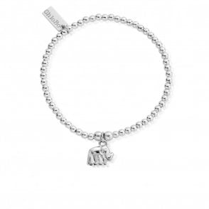 Cute Charm Elephant Bracelet in Silver