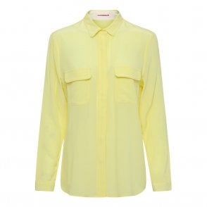 Athalie Silk Shirt in Limelight