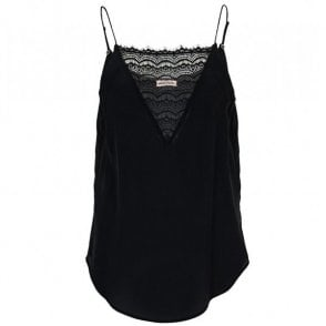 Elvira Slip Top in Black