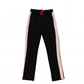 Rumily Wide Leg Stripe Pants in Black