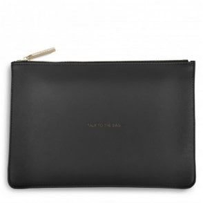 Perfect Pouch - Talk To The Bag in Charcoal