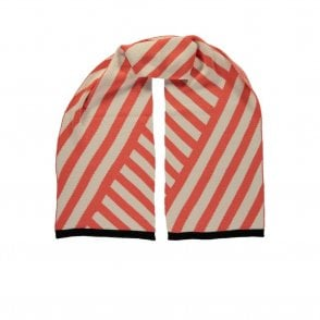 Stripe Scarf in Coral
