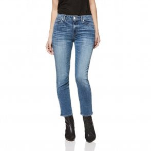 Hoxton Ankle High Rise Straight Leg Jeans in Embarcadero