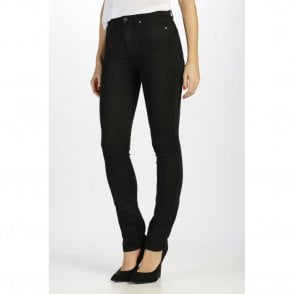Hoxton High Rise Straight Jeans in Black Shadow