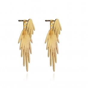 Electric Goddess Earrings in Gold
