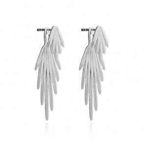 Electric Goddess Jacket Earrings in Sterling Silver