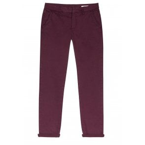 Sandy Basic Chino Trousers in Lie de Vin