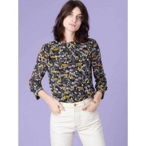 Ashley Floral Blouse in Black