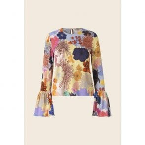 Emma Top in Colours and Shapes Print